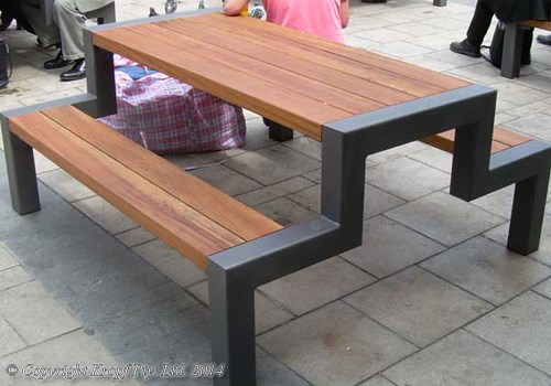 Simple clean and smooth, these picnic style cafe tables are ideal for ...